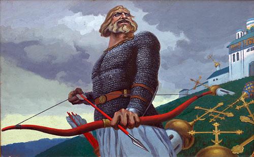 Илья Муромец борется с христианской чумой
