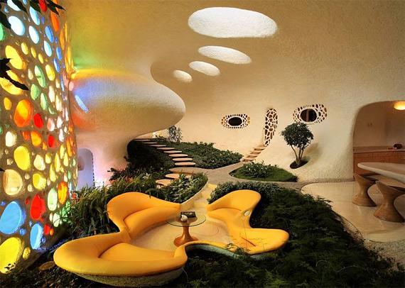биоархитектура дизайн интерьера