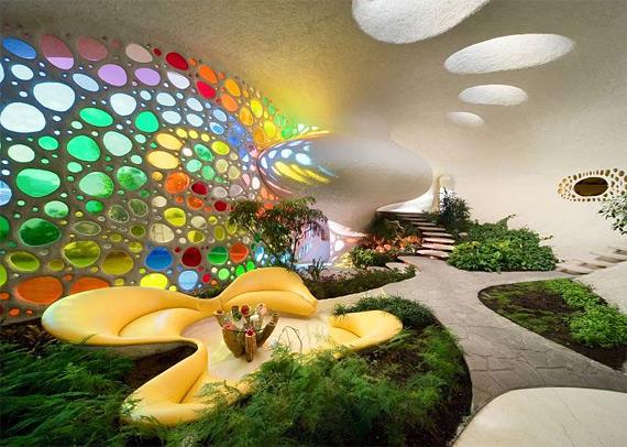растения в интерьере дома дизайн биорахитектура