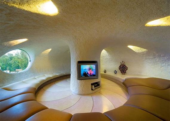 дом моллюск биоархитектура мексики дизайн гостинной