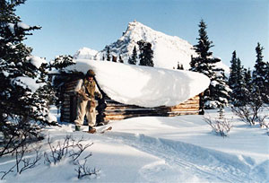 Дик Proenneke в салоне зимой