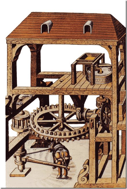 мельница на ослиной тяге
