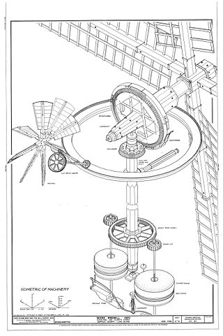 Ветряная и водяная мельницы.
