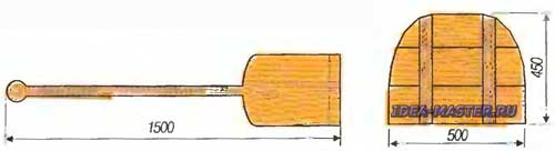 Рис. 4. Заслонка и хлебная лопата.