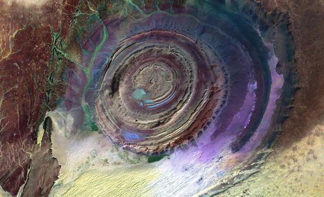 структура ришат в мавритании, астроблема
