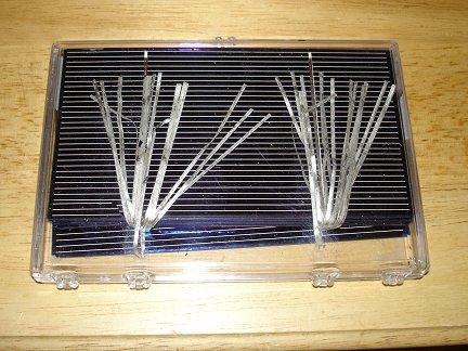 Солнечные элементы в коробке