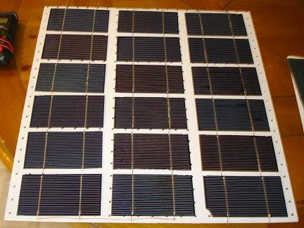 Половина солнечной батареи