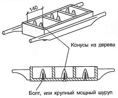 форма носилка для шлакоблока
